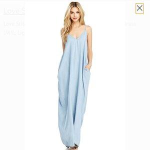 Lovestitch denim maxi dress